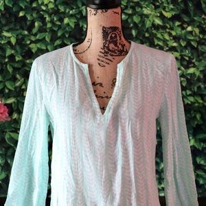 J. Crew   Mint Green Patterned Top